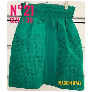 ヌメロヴェントゥーノ(N°21)の限定お値下げN°21 numero ventuno:メッシュスカート/サイズ38(ひざ丈スカート)