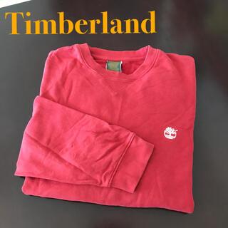 ティンバーランド(Timberland)のTimberland 長袖 トレーナー Sサイズ Mサイズ メンズ 赤(スウェット)