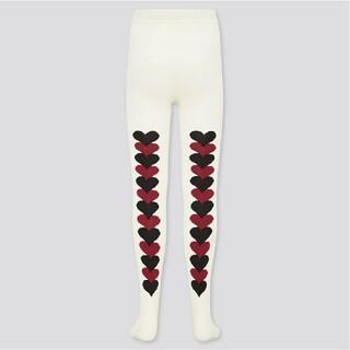 マリメッコ(marimekko)のUNIQLO marimekko キッズ タイツ ホワイト 110cm (靴下/タイツ)