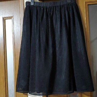 ブラーミン(BRAHMIN)の美品ブラーミン☆ウエストゴムチュールレーススカート(ひざ丈スカート)