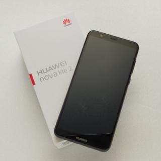 ファーウェイ(HUAWEI)のHUAWEI NOVA lite2 32g SIMフリー ブラック(スマートフォン本体)