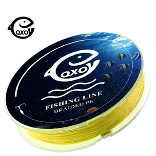 超大人気☆イエローカラー!高品質、飛距離、高強度!四つ編み式 PEライン 100(釣り糸/ライン)
