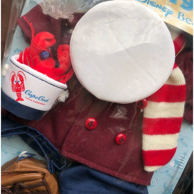 ダッフィー(ダッフィー)のDuffy コスチューム 2009年 ケープコッドシーズン エンタメ/ホビーのおもちゃ/ぬいぐるみ(キャラクターグッズ)の商品写真