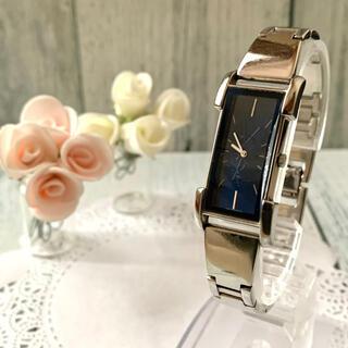 Saint Laurent - 【動作OK】Yves Saint Laurent 腕時計 ネイビー 銀 バングル