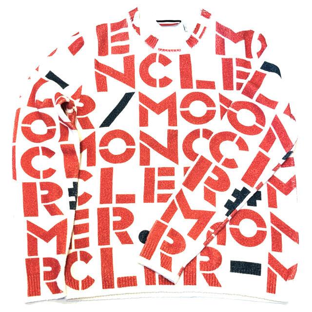 MONCLER(モンクレール)の【⭐️激レア⭐️新品⭐️】モンクレール レタリングプリント ニットセーター メンズのトップス(ニット/セーター)の商品写真