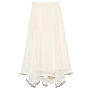 フレイアイディー(FRAY I.D)のセルフォード シアー刺繍スカート(ロングスカート)