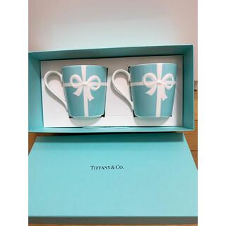 ティファニー(Tiffany & Co.)の【新品未使用】ティファニー リボン マグカップ ペア(グラス/カップ)