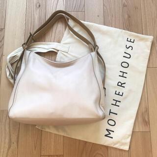マザーハウス(MOTHERHOUSE)のマザーハウス ヨゾラ 2ウェイバッグ L ホワイト 保存袋(ショルダーバッグ)