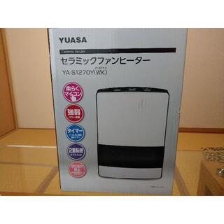 YUASA YA-S1270Y(WC) セラミックファンヒーター 電気暖房 美品(電気ヒーター)
