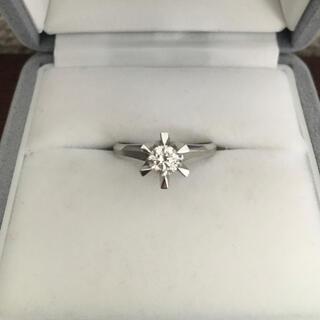 ダイヤモンド リング Pt900 0.39ct F SI-2 5.1g(リング(指輪))