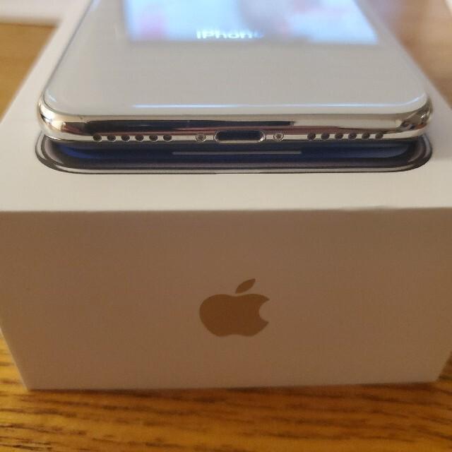 iPhone(アイフォーン)のはるぱ様 専用 iPhone x Silver 64GB Simロック解除済み スマホ/家電/カメラのスマートフォン/携帯電話(スマートフォン本体)の商品写真