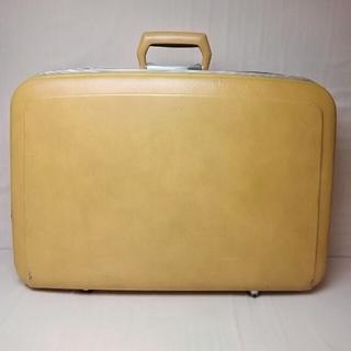 Skyway スーツケース 黄色 イエロー アンティーク ヴィンテージ 旅行鞄(旅行用品)