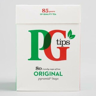 Black Tea PG Tips Pyramid Tea Bags 80 Ba(茶)