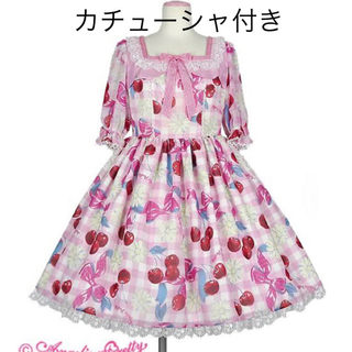 アンジェリックプリティー(Angelic Pretty)のAngelic Pretty Sweet Cherry Margaret セット(ひざ丈ワンピース)