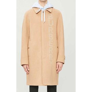BURBERRY - BURBERRY ロゴ カムデン ウール&カシミア コート キャメル 新品