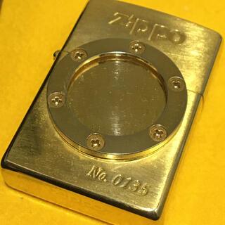 ジッポー(ZIPPO)のZIPPO 珍品ビンテージ 90s GOLD 限定フォトフレーム 未使用(タバコグッズ)