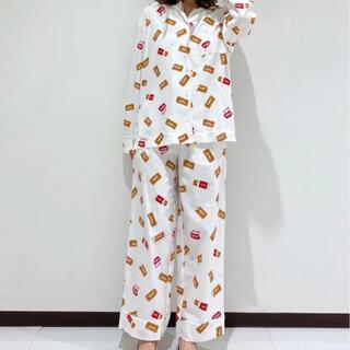 ジェラートピケ(gelato pique)のジェラートピケ Lotus シャツ ロングパンツ 上下セット ロータス コラボ(ルームウェア)