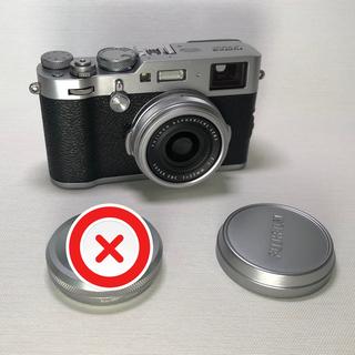 フジフイルム(富士フイルム)のおまけのフード無し FUJI FILM X100F シルバー(コンパクトデジタルカメラ)