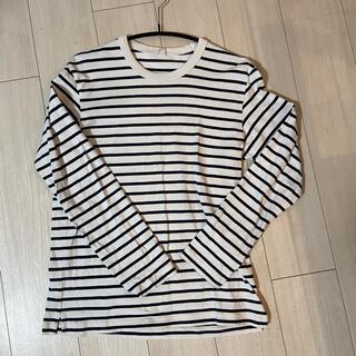 ユニクロ(UNIQLO)のユニクロ ボーダーカットソー(Tシャツ/カットソー(七分/長袖))