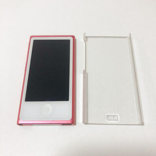 アイポッド(iPod)のiPod nano 7世代 16GB ピンク ハードケース付き(ポータブルプレーヤー)