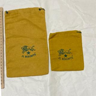 イルビゾンテ(IL BISONTE)の[送料込]イルビゾンテ 巾着袋 2点まとめ(ショップ袋)