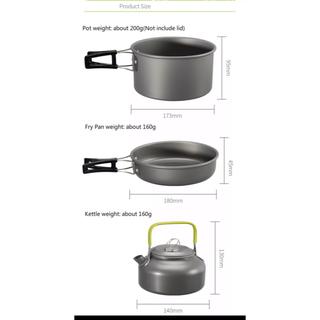 アウトドア キャンプ 鍋 フライパン 急須 3点セット(調理器具)