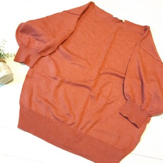 エージーバイアクアガール(AG by aquagirl)の★セーター★七分丈★淡いピンク★Mサイズ(ニット/セーター)