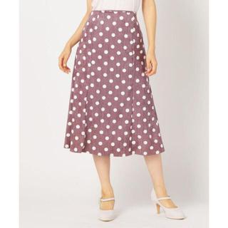 ミッシュマッシュ(MISCH MASCH)の新品【ミッシュマッシュ】ドットマーメイドスカート ピンク☆Mサイズ(ロングスカート)