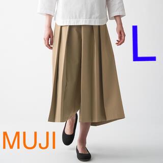 ムジルシリョウヒン(MUJI (無印良品))の新品 無印良品 乾きやすいストレッチ はかまパンツ 婦人・L   ベージュ(その他)