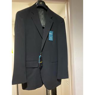 新品未使用 タグ付き メンズ スーツ 快適トラベルジャケット ネイビー(ノーカラージャケット)