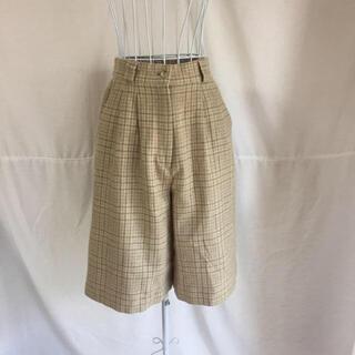 PANAMA BOY - 最終値下 vintage チェック ベージュ ハイウエスト wool パンツ