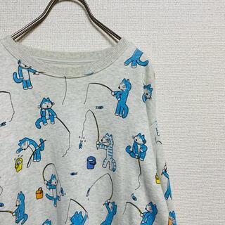 グラニフ(Design Tshirts Store graniph)の一点物 グラニフ スウェット/魚釣り (11ぴきのねこ)(スウェット)
