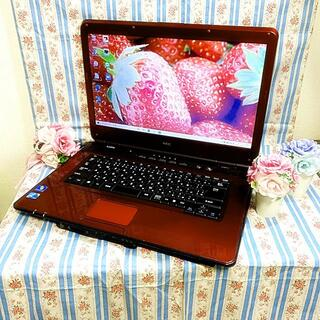 エヌイーシー(NEC)のセール中🍫気品溢れる😍大人気の希少レッドカラー赤色で綺麗💕ノートパソコン(ノートPC)