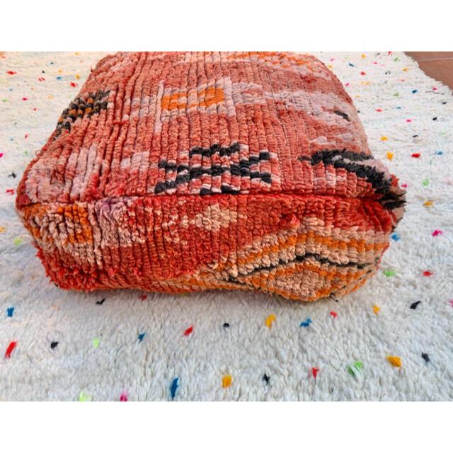 Hug O War(ハグオーワー)のモロッコ プフ ブジャド boujad クッション クッションカバー ラグ 2 インテリア/住まい/日用品のソファ/ソファベッド(オットマン)の商品写真