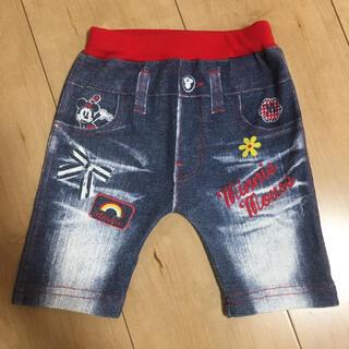 Disney - 90サイズ ミニー デニム風 ハーフパンツ ズボン