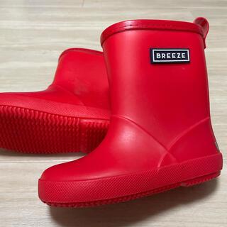 ブリーズ(BREEZE)の子供 レインブーツ 長靴 男女兼用 赤 18cm 美品(長靴/レインシューズ)