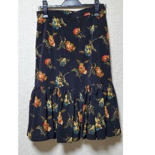 ロイスクレヨン(Lois CRAYON)のロイスクレヨン 花柄 マーメイドスカート(ひざ丈スカート)
