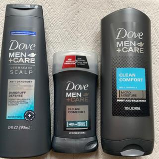 ユニリーバ(Unilever)のプレゼントに!アメリカ DOVE MEN シャンプー、制汗剤、ボディーシャンプ(制汗/デオドラント剤)