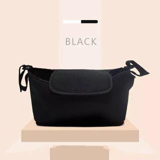 アカチャンホンポ(アカチャンホンポ)のストローラーバッグ ベビーカーバッグ  ブラック  新品未使用(ベビーカー用アクセサリー)