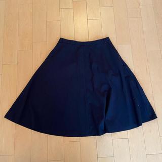 ザラ(ZARA)の【ほぼ未使用】ZARA フレアスカート ネイビー スカート(ひざ丈スカート)