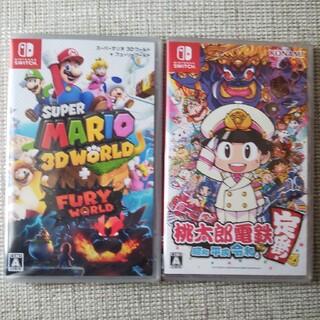 ニンテンドースイッチ(Nintendo Switch)のスーパーマリオ 3Dワールド   桃太郎電鉄(家庭用ゲームソフト)