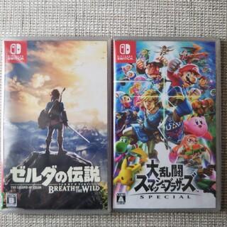 ニンテンドースイッチ(Nintendo Switch)のゼルダの伝説 ブレスオブザワイルド   大乱闘スマッシュブラザース(家庭用ゲームソフト)