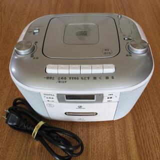 コイズミ(KOIZUMI)のCDステレオラジカセ SAD-4935 ホワイト(ポータブルプレーヤー)