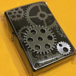 ジッポー(ZIPPO)のZIPPO MECHANIC GEAR ブラックチタニウム 歯車メタル 美品(タバコグッズ)