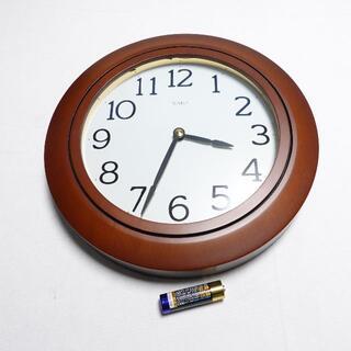 ワコウドウ(和光堂)の■和光 壁掛け時計 クォーツ製 直径約24cm(掛時計/柱時計)