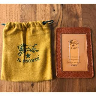 イルビゾンテ(IL BISONTE)のイルビゾンテ☆新品 パスケース カードケース 定期入れ(名刺入れ/定期入れ)