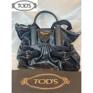 トッズ(TOD'S)の【TOD's】トッズ 2way トートバッグ ショルダーバッグ レザー 黒(トートバッグ)