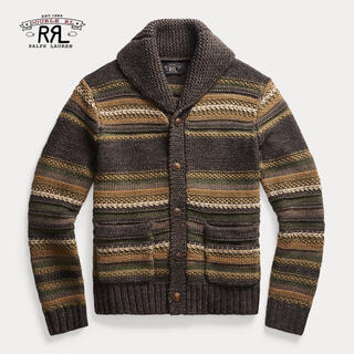 【新品】RRL Striped Mixed-Knit Cardigan M