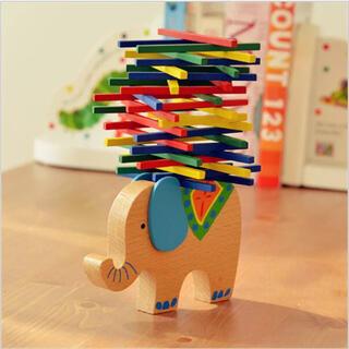 ぞう バランス ゲーム パズル 知育 指先 つまむ つかむ おもちゃ ブロック(知育玩具)