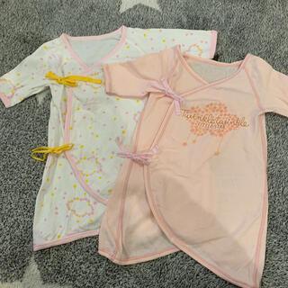 ampersand - アンパサンド コンビ肌着 2枚セット 女の子 ピンク